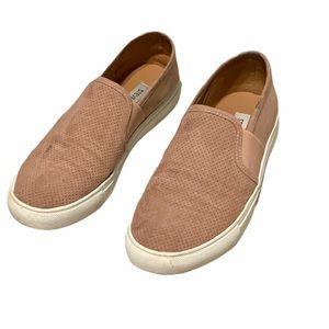 Steve Madden Blush Suede Platform Slip-On Sneakers